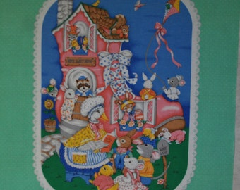 Mother Goose Baby Quilt Panel