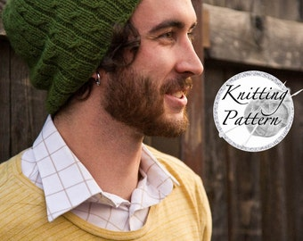 Knitting Pattern for Men's Hat - Bartek