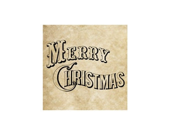 Merry Christmas Rubber Stamp~Large Cling Stamp~Vintage font~Western~Traditional~Southern~Od Fashioned~Holiday~Season~Unmounted  (52-20)
