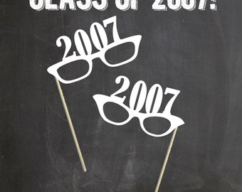 Class Reunion Photo Props. 10 Year Reusnion (Set of 2) 2017  Photo Booth Prop Set. Photo Booth Props. 2017, 1997, 1987 ,1977, 1967 Reunion