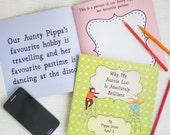 Why My Auntie Is Brilliant - Personalised Aunty Gift Book, Ideal Aunt Gift, Auntie Birthday Gift