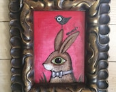 Mr Bunny Is A Good Host original framed painting