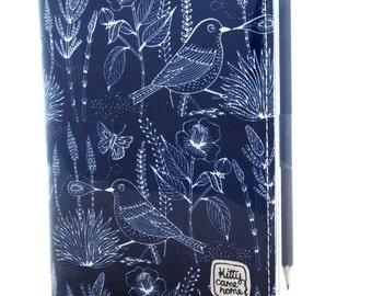 A6 Journal - Bushland birds and butterflies on blue
