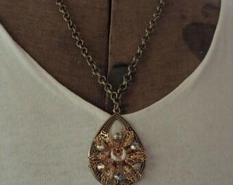 Vintage Shriners Brooch, Repurposed Shriners Brooch, Shriners Necklace, Shriners Donation