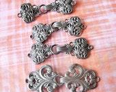 Antique buckle lot, Antique clasp lot, ornate buckle, ornate clasp, lot, Vintage buckle lot, floral clasps