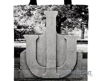 Indiana University Limestone Bench  - Fine Art Photography Tote Bag