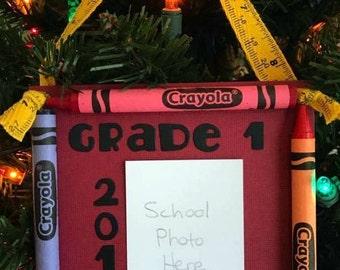 2016 Grade 1 Crayon Keepsake School Photo Ornament