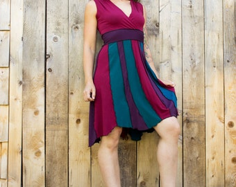 Jasper V-Neck Pixie Dress  - Organic Fabric - Made to Order - Choose Your Colors