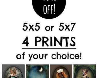 Save 40% on Four 5x5 or 5x7 Prints of Your Choice