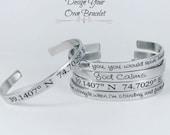 Skinny Cuff Bracelet, Personalized Bracelet, Personalized Jewelry, Engraved Bracelet, Custom Jewelry, Silver Bracelet, Gold Bracelet