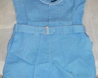 Vintage Mason Line Baby Infant Boy Sailor Outfit Romper