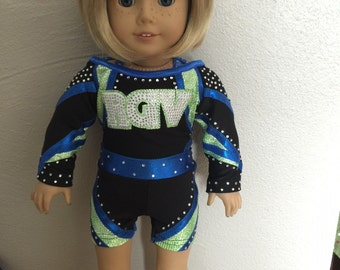 "Made to order RGV Cheerleader Uniform to fit American Girl Doll or any 18"" doll"
