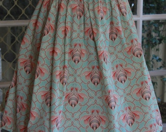 Skirt / Vintage styled / Tula Pink / Artist fabric / retro design / OOAK / Cotton / Handmade / Designer / Pinup / 50's
