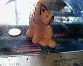 vintage dog figurine ceramic hound