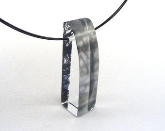 Stripes necklace acrylic drop pendant