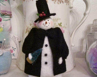MADE TO ORDER.....Black Tie Affair...Snowman