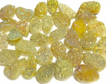 Yellow Druzy pendant Bead