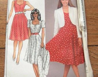 vintage 80s McCAls pattern 8512 misses jacket and dress sz 12 uncut