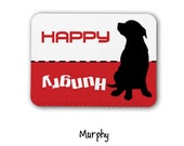 Dog Magnet, Pet Feeding Reminder Magnet - Hungry, Happy Sign - Did you feed the dog?, Pit Bull, Rottweiler, Boxer, Great Dane
