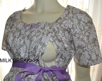 Trendy Maternity Hospital Gown with THE WORKS
