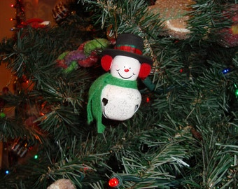snowman bell ordainment(set of two),