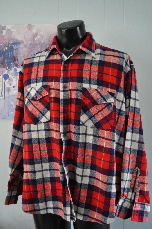 Soft vintage pendleton flannel 80s shirt by windbreaker red for Super soft flannel shirts
