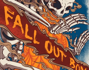 Fall Out Boy - Official Screen Printed Poster - FOB