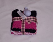 Pack of Three Cotton Dishcloths/Baby Washcloths