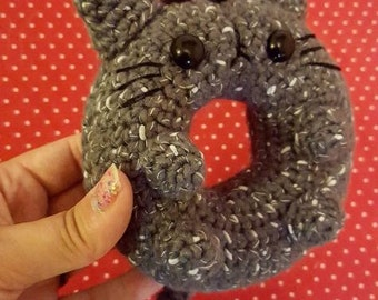Donut Cat Amigurumi Pattern - Kawaii Cat Lady - PDF - Instant Download
