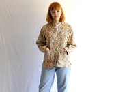 vintage 80s quilted jacket reversible cotton