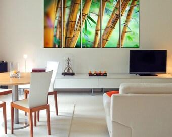 Canvas Prints - Bamboo Wall Art - Bamboo Canvas Photo Print - Bamboo Canvas Art - Bamboo Home Decor - Framed Ready To Hang