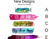 Etsy Banners - Etsy Store Graphics - New Etsy Shop Banner Designs Selection - Watercolor Etsy Banners