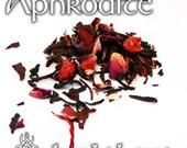 Aphrodite Devotional Tea - loose leaf herbal tea, hibiscus tea, strawberry rose vanilla, Hellenic pagan, Greek, Roman, Goddess of love
