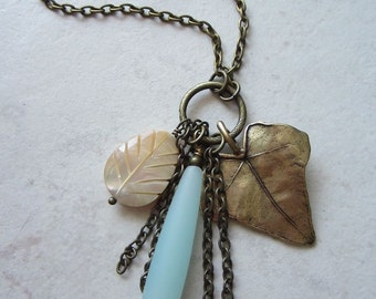 Gemstone Cluster Pendant Necklace - Lovely Boheme Collection