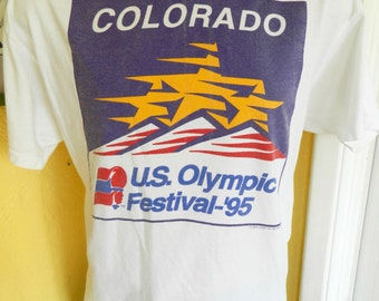 1995 US Olympic Festival Colorado vintage tee shirt - size XL