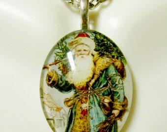 Saint Nicholas pendant with chain - GP12-353 cameo style