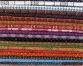 Hand Dyed Felted Wool, 8in.x 8in. - Mixed Colors and Textures - for Applique, Penny Rugs, Sewing Projects - W522