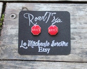 Stop - Road sign - red earrings - On the road - French word - Road Trip - La Méchante Sorcière - Urban jewels - Route, sign, symbol, Quebec