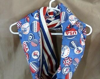 Democrat scarf