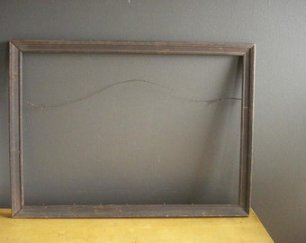 Vintage Carved Wooden Frame - Carved Detail - Large Wood Frame