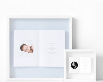 Newborn photo book / Nursery art / baby photograph frame / Personalized baby art