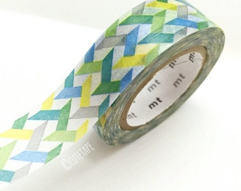 Japanese colorful Washi Tape Masking Tape Blue green yellow Pretty Tape