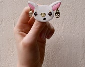 RESERVED LISTING - White Bat brooch