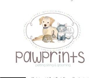 Dog Logo, Cat Logo, Pet Sitting Logo, Premade Dog Logo, Custom Logo, Animal Logo, Premade Logo, Pet Sitting Logo, Barkery Logo Logo