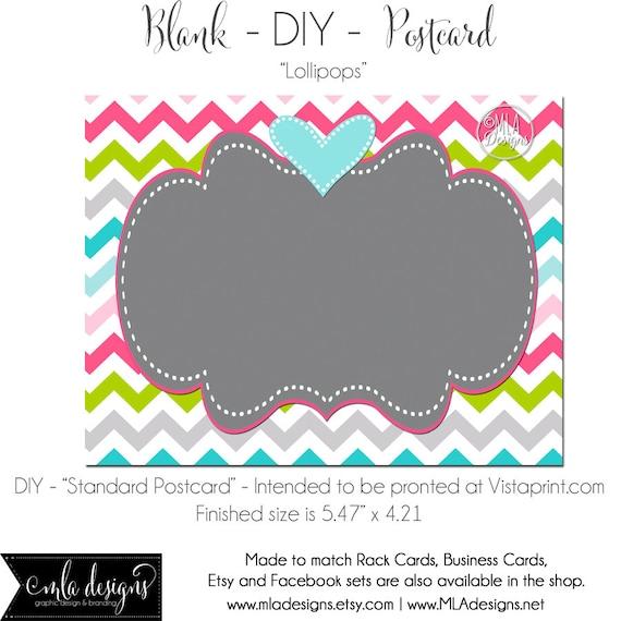 diy vistaprint standard size postcard lollipops blank. Black Bedroom Furniture Sets. Home Design Ideas