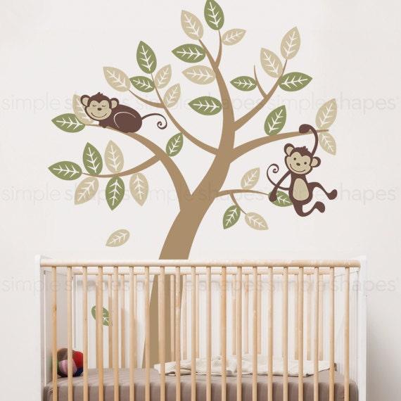 Vinyl Wall Art Decal Sticker - Tree with Monkeys - Kids