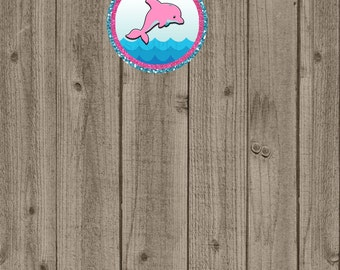 Dolphin Cupcake Toppers, Dolphin Birthday Party, Girls Birthday Party