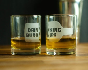 Drinking Buddies Lowball Glasses