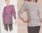 Vogue 1109 / Todays fit sewing Pattern By Sandra Betzina / Shirt top Blouse / One size / Bust 32 to 55