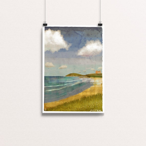 Fistral - Signed Cornish Coasts Giclee Print
